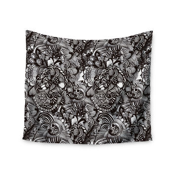 "Shirlei Patricia Muniz ""Secret Dream"" Black Abstract Wall Tapestry"