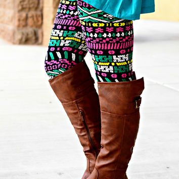PUZZLE PIECE LEGGINGS - Default Title