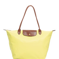 Le Pliage Large Shoulder Tote Bag, Lemon - Longchamp
