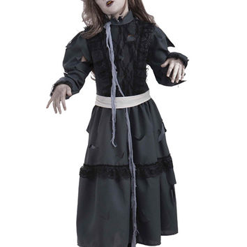 Creepy Scary Costume Zombie Girl Large