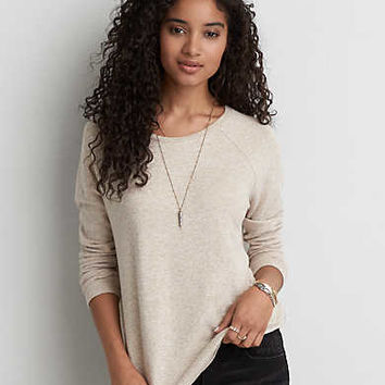 AEO Soft & Sexy Plush Jegging T-Shirt , Sand