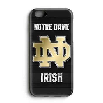 "Apple Iphone 6 4.7"" Case - The Best 3d Full Wrap Iphone Case - Notre Dame Fighting Irish Logo Gold"