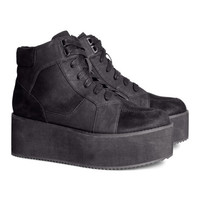 H&M - Platform Sneakers - Black - Ladies