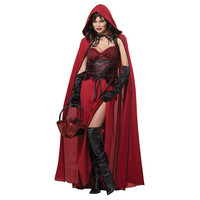 2016 Halloween Costumes for Women Sexy Role Play Queen Outfit Little Red Riding Hood Cosplay Costumes