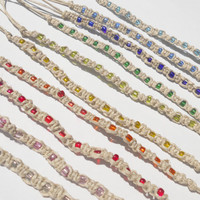 Friendship Bracelets - Choose One Bead Color - Summer Style Hemp Bracelet