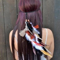 Long Feather Headband #B1014