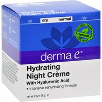 DERMA E Hydrating Night Cream with Hyaluronic Acid 2oz