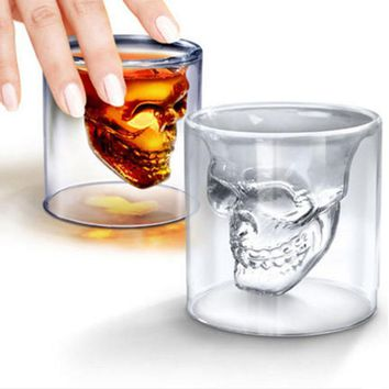 New Household Creative Skull Shape Glass Cups