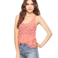 Snap Button Lace Tank | FOREVER21 - 2015035834
