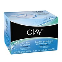 Olay 4-In-1 Daily Facial Cloths ? Sensitive 33 Count (Pack of 2) | AihaZone Store