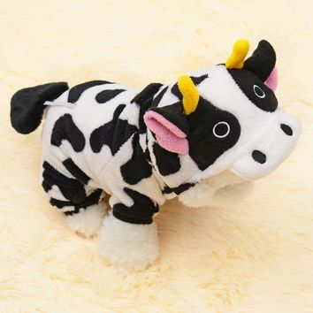 Pet Cosplay Cow Costume