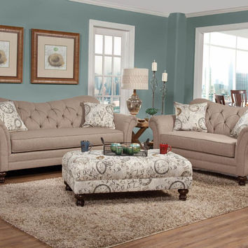Serta Upholstery Abington Safari Sofa and Loveseat