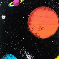 Planets Flocked Blacklight Poster Print Posters at AllPosters.com