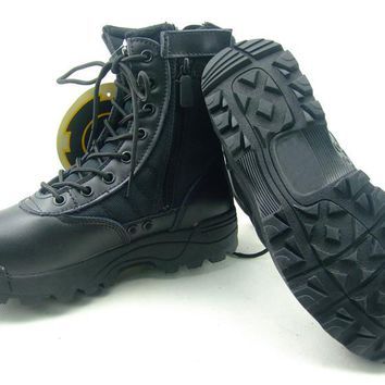 Hot Sale Mens Tactical boots desert combat leather Hunting Boots Shoes Military Army Shooting Boots