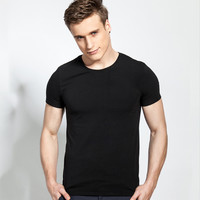 Men's Fashion Cotton Round-neck Men Short Sleeve T-shirts [6541374147]