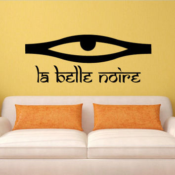 Wall decal decor decals art sticker all seeing eye annuit coeptis illuminati god triangle la belle noire (m776)