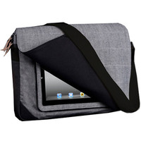 "Hex: 15"" Messenger for iPad - Grey / Denim (HX116)"