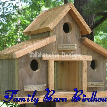 Rustic Barn Birdhouse, Primitive Barn Birdhouse, Barn Birdhouse, Barnwood Birdhouse, Reclaimed Wood Birdhouse,