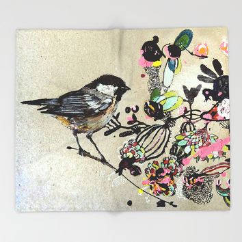 sparrow Throw Blanket by Randi Antonsen