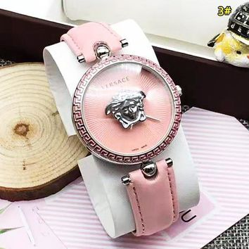 Versace Fashion New Dial Women Men Watch Wristwatch