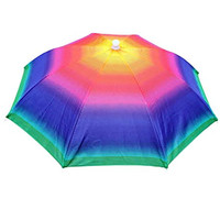 Crazy Cart Umbrella hat protect your head for fishing beach golf party for Adults Colorful for Adults Kids