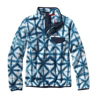 Patagonia Women's Synchilla® Recycled Fleece Lightweight Snap-T® Pullover | Diamond Dancer: Navy Blue