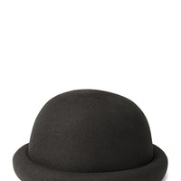 FOREVER 21 Classic Wool Bowler Hat