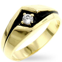 Golden Sleek Men's Ring