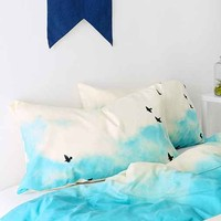 Shannon Clark For DENY Blue Skies Ahead Pillowcase Set- Blue One