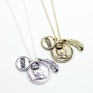 Owl wisdom necklace
