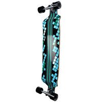 Punked Drop Down Black Digital Wave Longboard Complete