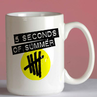 5 Seconds of Summer Logo mug coffee, mug tea, size 8,2 x 9,5 cm
