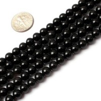 6mm Round Black Agate Beads Strand 15 Inch Jewelry Making Beads