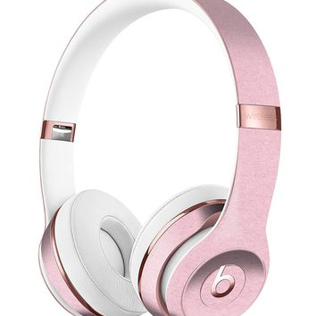 Baby Pink Solid Surface DesignSkinz Full-Body Skin Kit for the Beats by Dre Solo 3 Wireless Headphones / Ultra-Thin / Matte Finished / Protective Skin Wrap