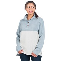 Herringbone Loop Pullover in Frozen Pond by The Southern Shirt Co. - FINAL SALE