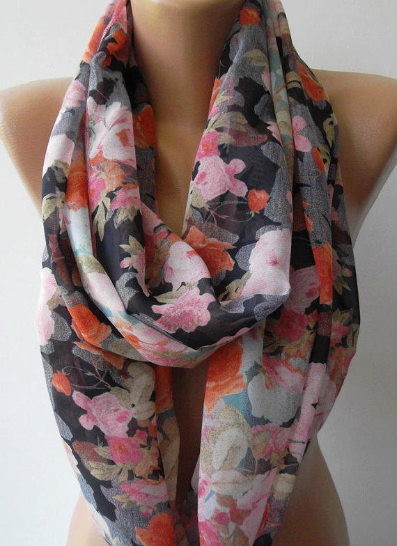 Infinity Scarf Loop Scarf Circle Scarf - Elegant - It made with good quality chiffon fabric.....Super Loop