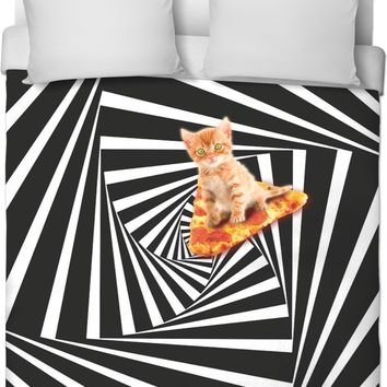 ROB Down The Cat Hole Duvet Cover
