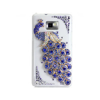 Handmade hard case for Samsung Infuse 4G: Bling peacock (customized are welcome)