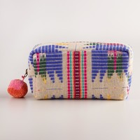 Jute Mulitcolor Tribal Travel Pouch