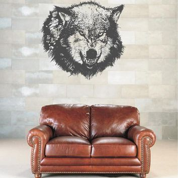 ik1952 Wall Decal Sticker Wolf grin animal forest bedroom living room