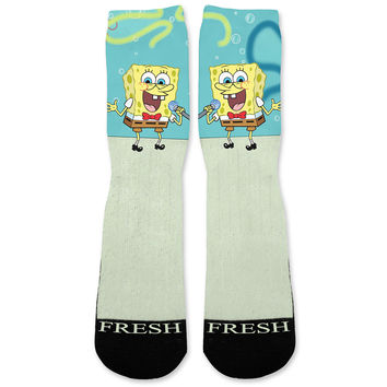Spongebob Custom Athletic Fresh Socks