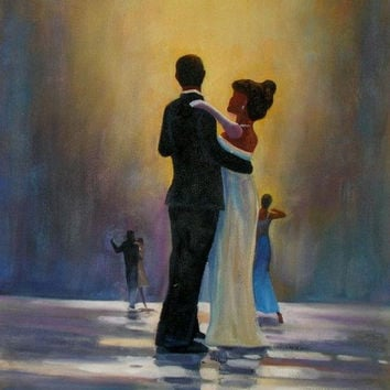 Dancing on the Rain Oil Painting