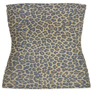 Hell Cat Brown Leopard Tube Top