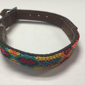 XXS Handmade Handwoven Leather Pet Collar