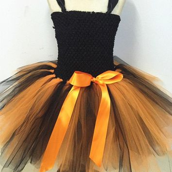 New Girls Pumpkin Halloween Tutu Dress Party Costumes Baby Girl Princess Dress Kids Festival Birthday Dance Performance Dresses