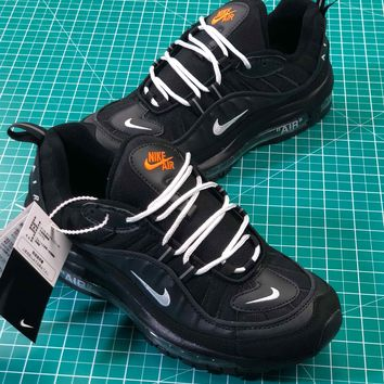 Off White X Nike Air Max 98 Black White Sport Running Shoes - Best Online Sale