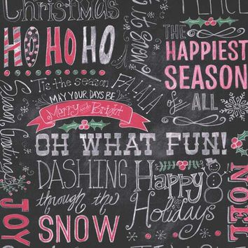 Christmas Chalkboard HoHoHo Happy Holiday Photo Backdrop - 8150