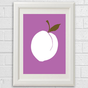Plum Print Modern Wall Art Kitchen Decor Plum Poster Kitchen Art Scandinavian Modern Poster Wall Decor Abstract Wall art Choose Your Color