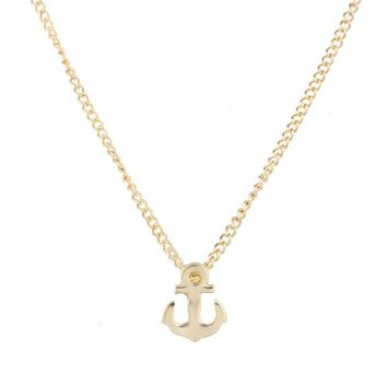10 PCS New Style  Anchor Pendant Necklace Collarbone Chain Necklace Hand Stamped Delicate Pendant Necklace Jewlery