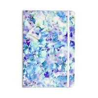 "Carolyn Greifeld ""Floral Fantasy Blue"" Purple White Everything Notebook"